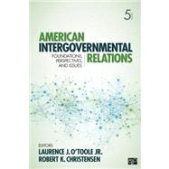 American Intergovernmental Relations by OToole, 9781452226293