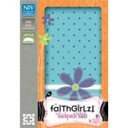 Faithgirlz! Backpack Bible: New International Version Turquoise Italian Duo-Tone by Zonderkidz, 9780310736295