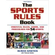 Sports Rules Book - 3rd Edition by Human Kinetics, 9780736076326