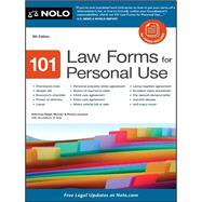 101 Law Forms for Personal Use by Warner, Ralph E.; Leonard, Robin; Nolo, 9781413316346