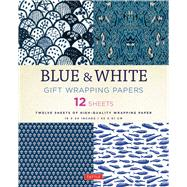 Blue & White Gift Wrapping Papers by Tuttle Publishing, 9780804846349