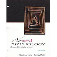 ABNORMAL PSYCHOLOGY by Unknown, 9781618826374