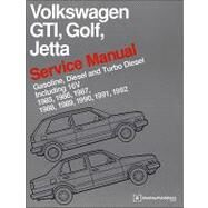 Volkswagen GTI, Golf, Jetta Service Manual : Gasoline, Diesel, and Turbo Diesel, Including 16V: 1985, 1986, 1987, 1988, 1989, 1990, 1991 1992: 1985, 1986, 1987, 1988, 1989, 1990, 1991 1992 by Bentley Publishers, 9780837616377