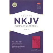 NKJV Compact Ultrathin Bible, Pink LeatherTouch, Indexed by Holman Bible Staff, 9781433646478