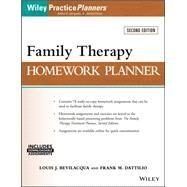 Family Therapy Homework Planner by Bevilacqua, Louis J.; Dattilio, Frank M.; Jongsma, Arthur E., 9781119246480