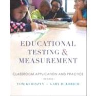 Educational Testing and Measurement by Kubiszyn, Tom; Borich, Gary, 9781118466490