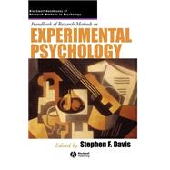 Handbook of Research Methods in Experimental Psychology by Davis, Stephen F., 9780631226499