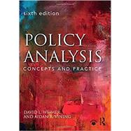 Policy Analysis: Concepts and Practice by Weimer; David L., 9781138216518