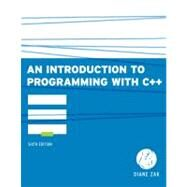 An Introduction to Programming With C++ by Zak, Diane, 9780538466523