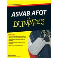 ASVAB AFQT For Dummies by Powers, Rod, 9780470566527