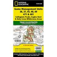 Collegiate Peaks, Eagles Nest, and Holy Cross Wilderness Areas Gmu by National Geographic Maps; Trails Illustrated, 9781597756532