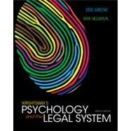 Wrightsman's Psychology and the Legal System by Greene, Edith; Heilbrun, Kirk, 9781133956563