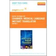 Medical Language Instant Translator: Pageburst Retail by Chabner, Davi-Ellen, 9781455736577