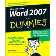 Word 2007 For Dummies by Gookin, Dan, 9780470036587