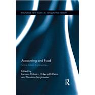 Accounting and Food: Some Italian Experiences by Sargiacomo; Massimo, 9781138616592