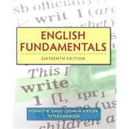 English Fundamentals Plus MyLab Writing with eText -- Access Card Package by Emery, Donald W.; Kierzek, John M.; Lindblom, Peter, 9780134016597
