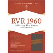 RVR 1960 Biblia Letra Súper Gigante, gris/marrón símil piel by Unknown, 9781462746606