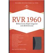 RVR 1960 Biblia Letra Súper Gigante, negro/gris símil piel by Unknown, 9781433646645