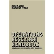 Operations Research Handbook by Eiselt, Horst A.; Frajer, Helmut Von, 9781349036646