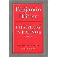 Phantasy in F Minor by Britten, Benjamin (COP), 9780571506668