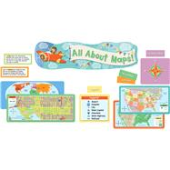 All About Maps Mini Bulletin Board Set by Carson-Dellosa Publishing Company, Inc., 9781483836676