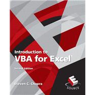 Introduction to VBA for Excel by Chapra, Steven C., 9780132396677