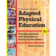 Adapted Physical Education by Block, Martin E., 9781598576696