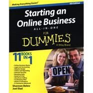 Starting an Online Business All-in-one for Dummies by Belew, Shannon; Elad, Joel, 9781118926703