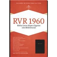 RVR 1960 Biblia Letra Súper Gigante, negro piel fabricada con índice by Unknown, 9781433646706