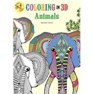 Coloring in 3D Animals by Segal, Emma, 9781626866713