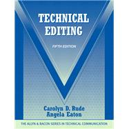 Technical Editing by Rude, Carolyn D.; Eaton, Angela, 9780205786718