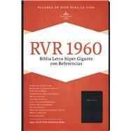 RVR 1960 Biblia Letra Súper Gigante, negro imitación piel con índice by Unknown, 9781433646720