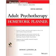 Adult Psychotherapy Homework Planner by Jongsma, Arthur E., 9781118076729