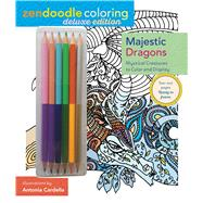 Zendoodle Coloring: Majestic Dragons Deluxe Edition with Pencils by Cardella, Antonia, 9781250126733
