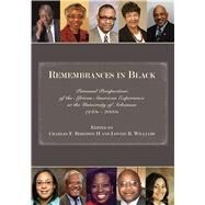 Remembrances in Black by Robinson, Charles F., II; Williams, Lonnie R., 9781557286758