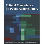 Cultural Competency for Public Administrators by Gooden; Susan T, 9780765626776