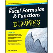 Excel Formulas and Functions for Dummies by Bluttman, Ken, 9781119076780