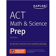 Act Math & Science Prep by Kaplan Test Prep, 9781506236803