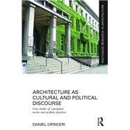 Architecture as Cultural and Political Discourse: Case studies of conceptual norms and aesthetic practices by Grinceri; Daniel, 9781138916807