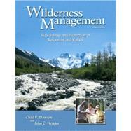 Wilderness Management by Dawson, Chad P., 9781555916824