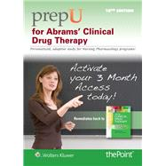 PrepU for Frandsen's Abrams' Clinical Drug Therapy coupon codes 2016