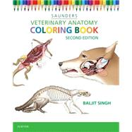 Veterinary Anatomy Coloring Book by Saunders, 9781455776849