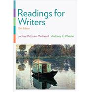 Readings for Writers (with 2016 MLA Update Card) by McCuen-Metherell, Jo Ray; Winkler, Anthony C., 9781337286879
