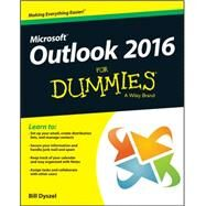 Outlook 2016 for Dummies by Dyszel, Bill, 9781119076889
