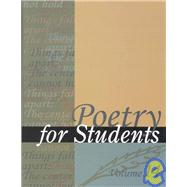 Poetry for Students by Not Available (NA), 9780787646929