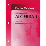 Algebra 1 Practice Workbook: Holt Mcdougal Larson Algebra by Holt Mcdougal, 9780618736942