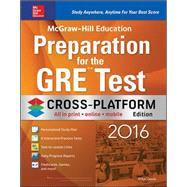 McGraw-Hill Education Preparation for the GRE Test 2016, Cross-Platform Edition by Geula , Erfun, 9780071846950