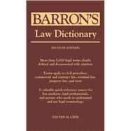 Barron's Law Dictionary by Gifis, Steven H., 9781438006956