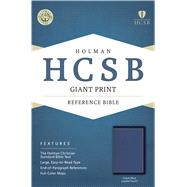 HCSB Giant Print Reference Bible, Cobalt Blue LeatherTouch by Holman Bible Staff, 9781433616990