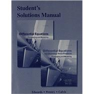 Student Solutions Manual for Differential Equations Computing and Modeling and Differential Equations and Boundary Value Problems: Computing and Modeling by Edwards, C. Henry; Penney, David E.; Calvis, David, 9780321797001